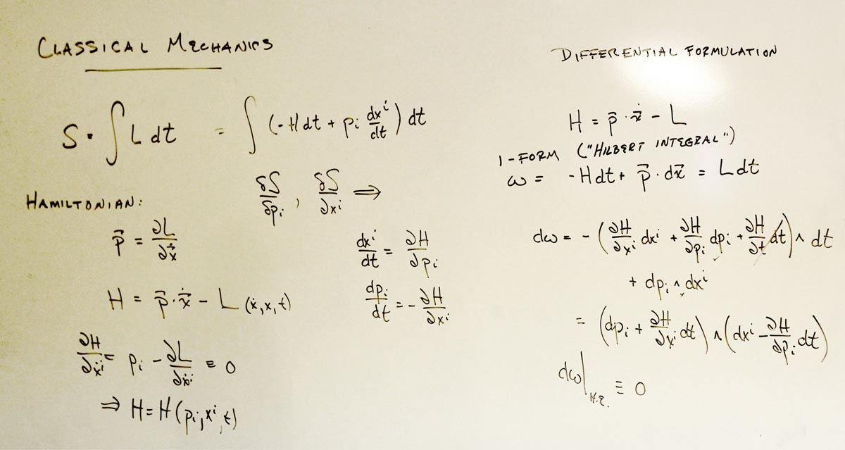 Taking The Exterior Derivative Of This 1 Form, We See That It Factors, With  Each Factor Being One Of Hamiltonu0027s Equation. Therefore, The 1 Form Is  Closed ...